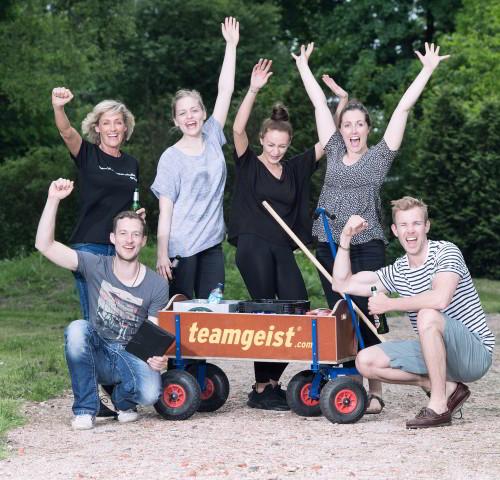 Bosseln Team Wagen Outdoor Jubel