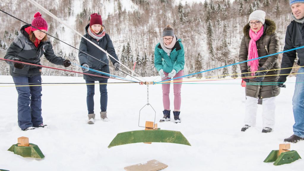 Winter Challenge im Winter mit spannenden Aktivtäten für das Team