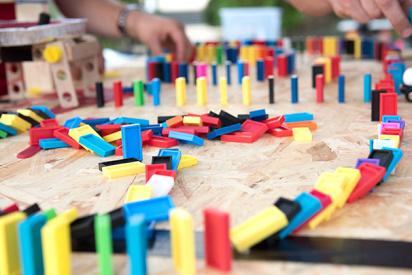Domino Lego Rallye in Krefeld