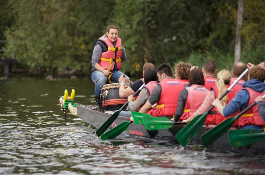 Drachenbootrennen als Team Event Bergisch Gladbach 0
