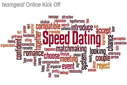 Speed Dating als Online Kick Off Event