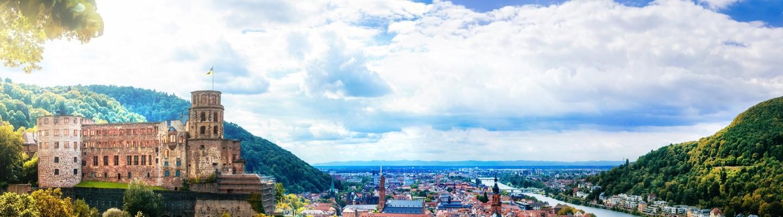 Heidelberg Skyline mit Heidelberger Schloss