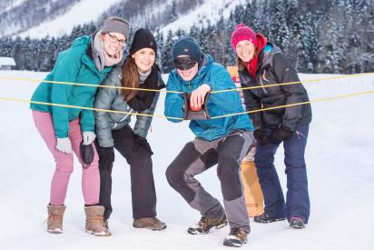 Winter Challenge im Winter mit spannenden Aktivitäten fuer das Team