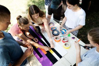 Tape Art - Materialien, Idee, Aktion