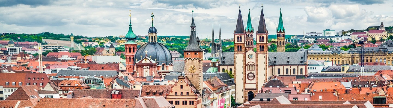 Würzburg Skyline mit Würzburger Dom