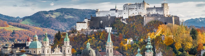 Festung Hohensalzburg und Salzburg Skyline