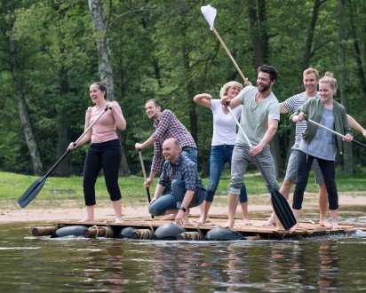 Flossbau Team Paddel