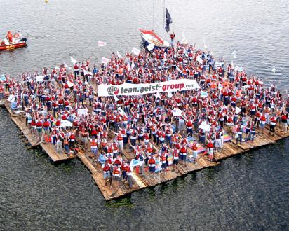 Flossbau Luftbild teamgeist group