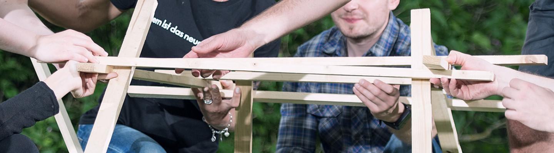 Leonardobruecke Team Holz