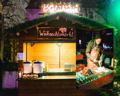 Weihnachtsmarkt Stimmungsvoll Marktstände
