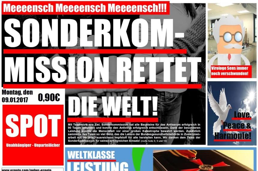 Zeitung Spot Welt Retten