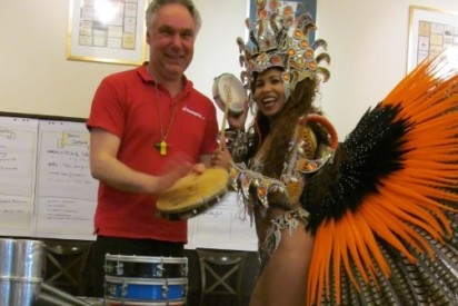 Samba Team-Drumming in Düsseldorf