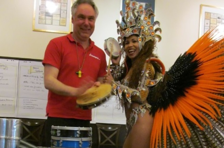 Samba Team-Drumming in Düsseldorf 0