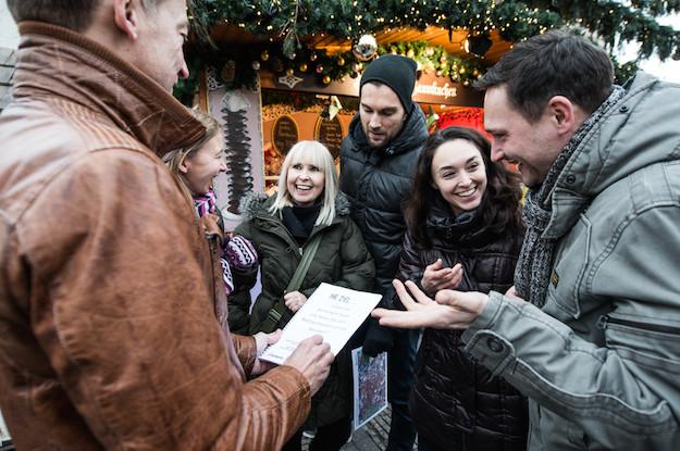 weihnachts city rallye gluewein