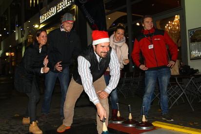 Eisstockschiessen Weihnachten Teamevent