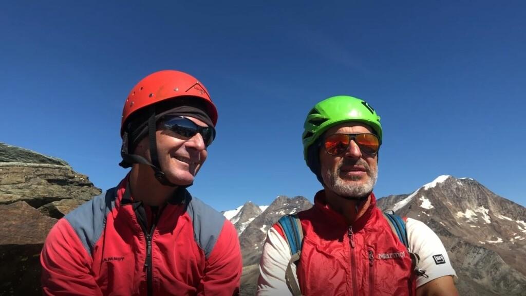 Die beiden <em>teamgeist</em> Gipfelstürmer Micha Haufe (links) und Peter Widhalm (rechts)