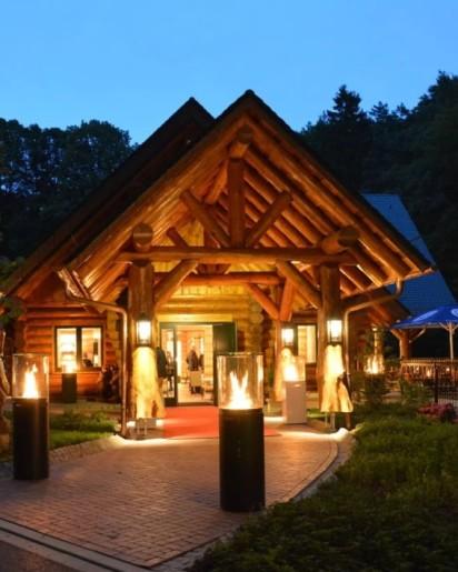 Weberhaus Melle Restaurant Bild am Abend Ausflugslokal und Eventlocation