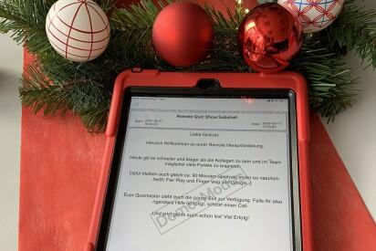 Online Weihnachts Team Quiz