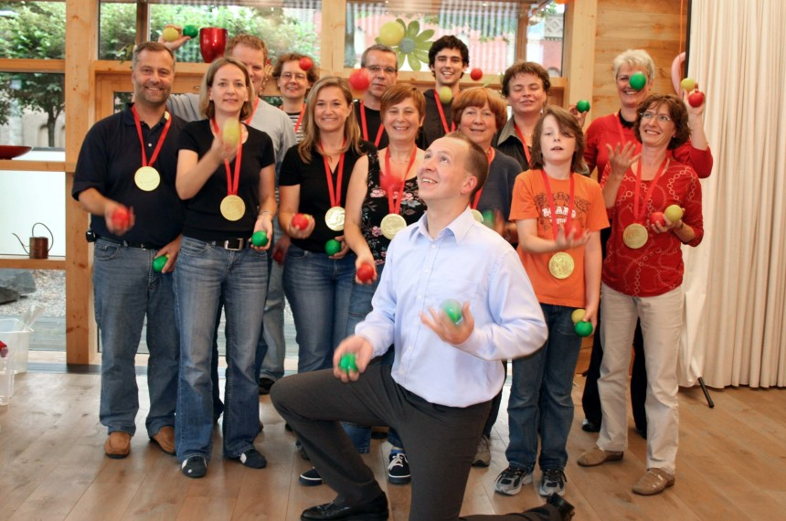 Jonglieren Workshop Teamevent Hannes Kannes und Team