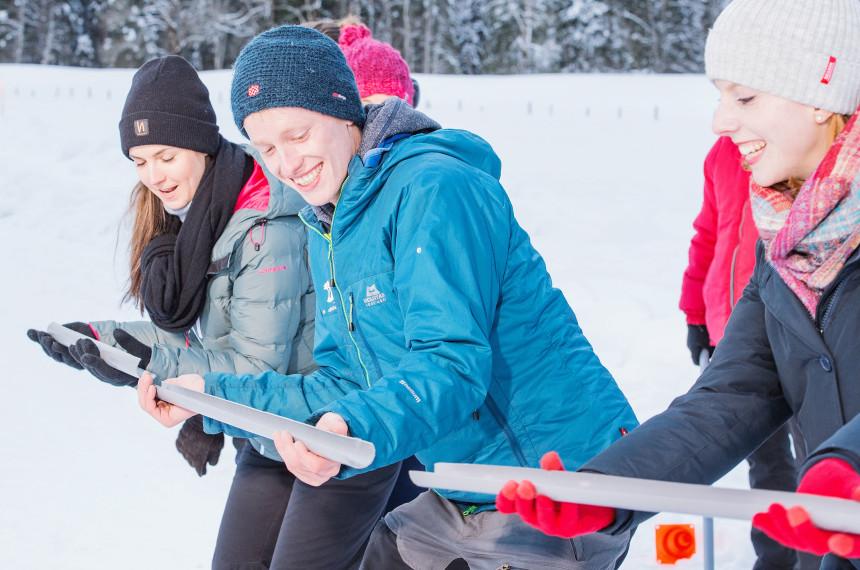 Winter Challenge im Winter mit spannenden Aktivitäten fuer das ganze Team