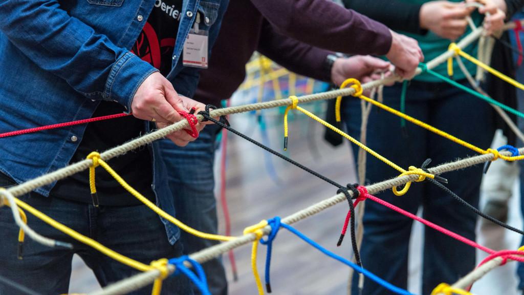 Beim Change Management wird vieles neu verknüpft - wie beim Teamnetz-Event