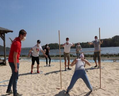 Beach Challenge Abstand Corona