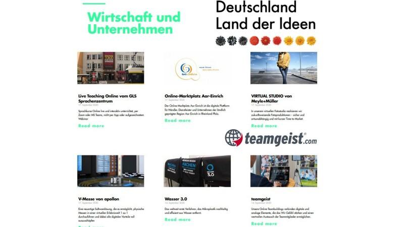 Deutschland Land der Ideen - teamgeist ist dabei!