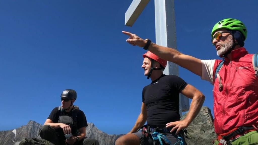 Die Gipfelstürmer von <em>teamgeist</em> Peter Widhalm (rechts) und Patrick Havenstein (Mitte)