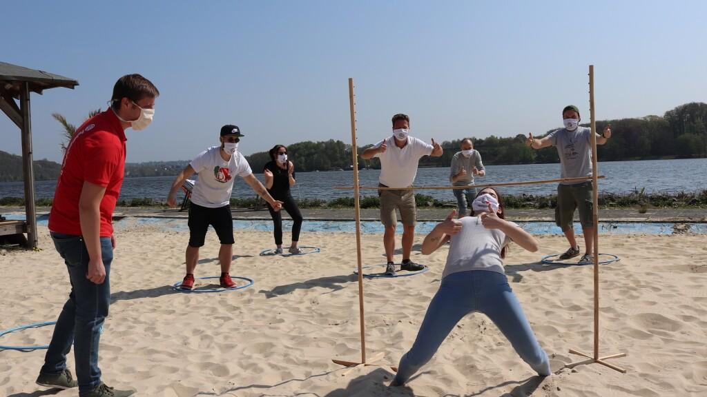 Strand Challenge mit Abstand