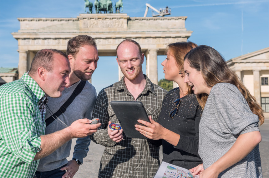iPad Rallye Team Berlin Brandenburger Tor Tablet GPS