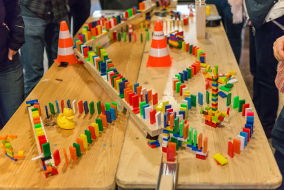 Lego Domino Rallye in Eisenach
