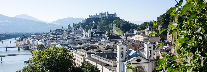 Salzburg Österreich Ausblick auf die Stadt