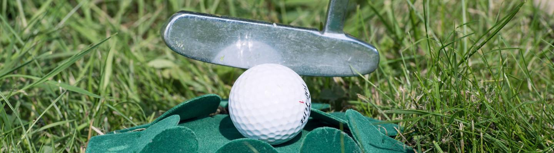 Golf Hindernis Schläger Wiese Ball