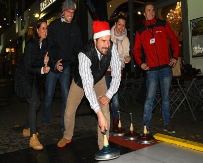 Team beim Eisstockschiessen