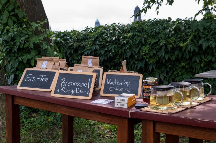 Tisch Schilder Tee Honig