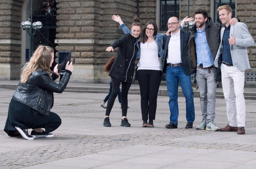 Team Foto Tablet iPad Stadt