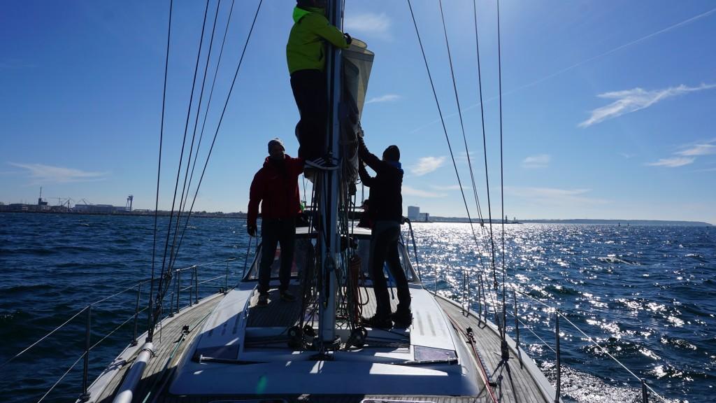 Michael Haufe Weltumsegelung Polaris Mast