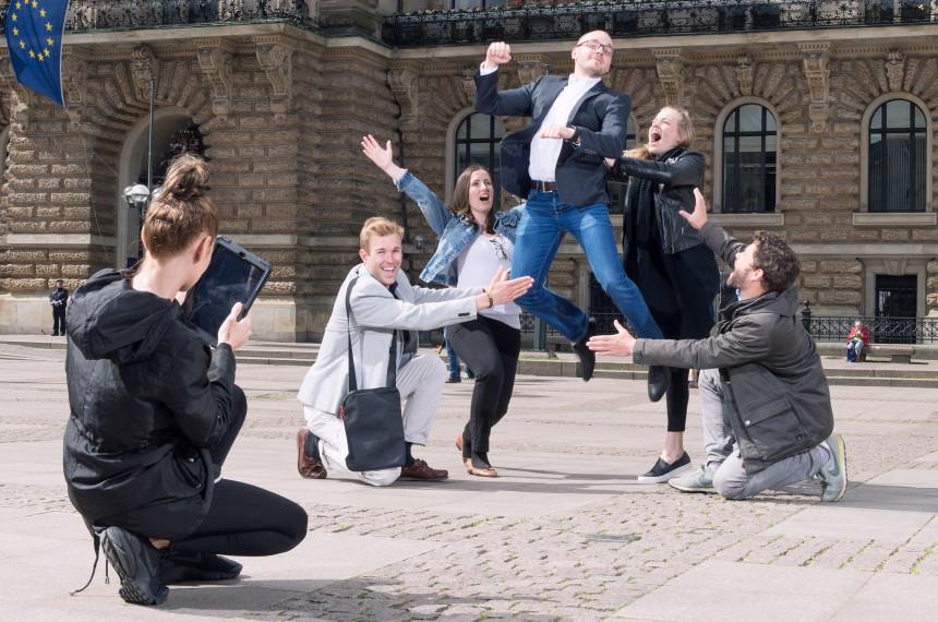 Team Foto Stadt iPad Tablet Sprung