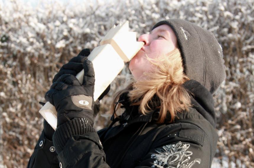 Winter Schnee Frau Kubb König