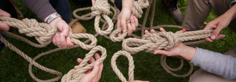 Flossbau Team Knoten Seil