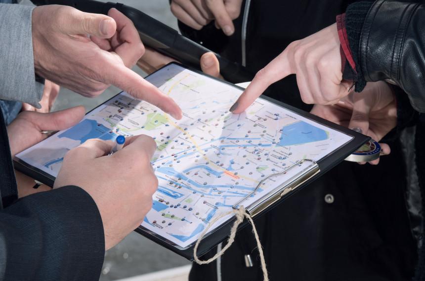 Haende Karte Hamburg