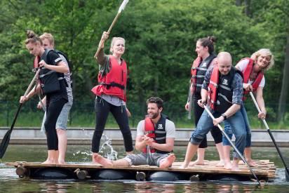 Flossbau Team Paddel Schwimmwesten