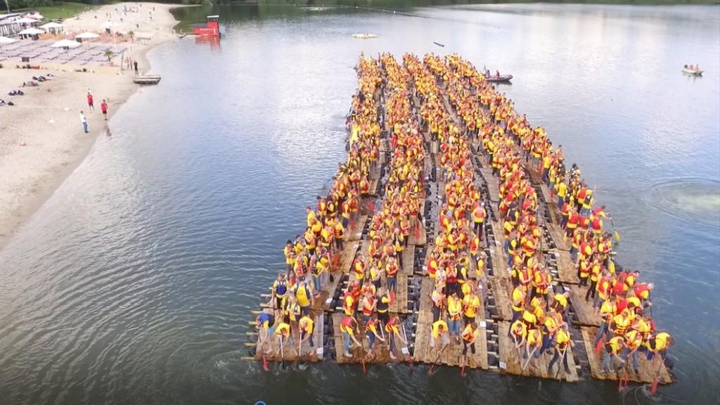 Megafloßbau Guiness Welt Rekord