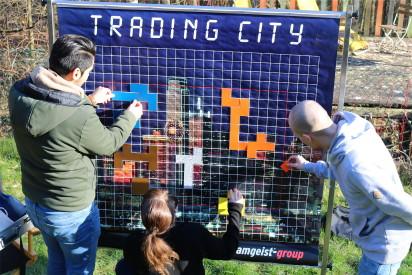 Trading City Spielplan mit Teilnehmern