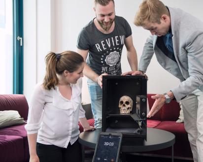 Team Tresor Raetsel iPad Totenkopf