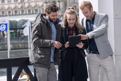Team iPad Tablet Stadt