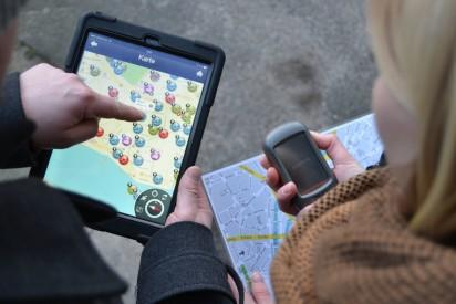iPad Rallye GPS Karte