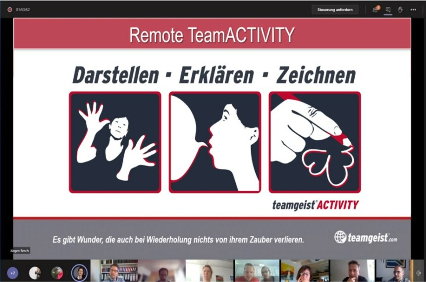 Remote TeamParcours als Online Kick Off Event 2