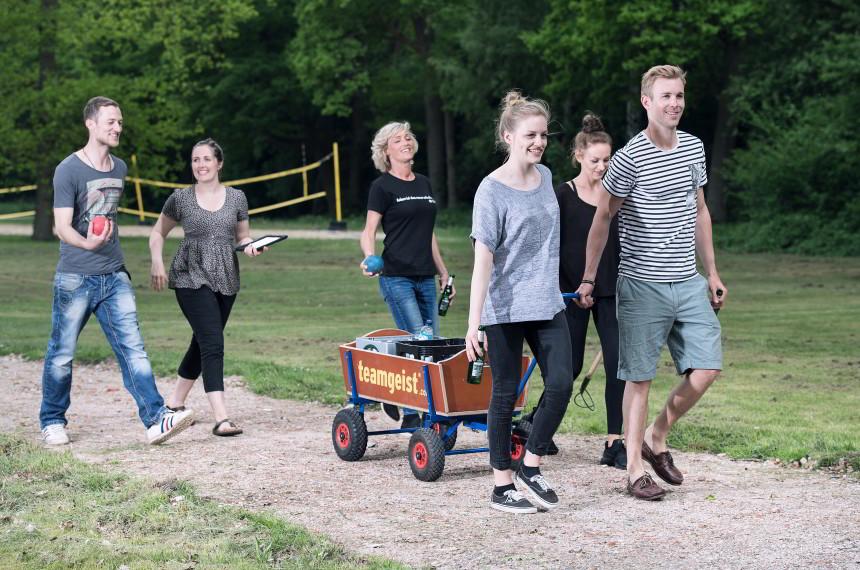 Bosseln Team Wagen Outdoor Getraenke