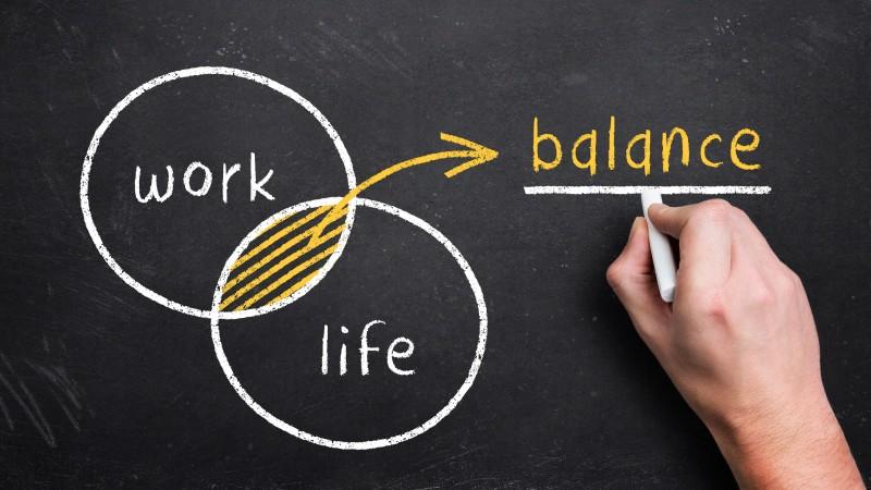 Work Life Balance Grafik Schnittmege